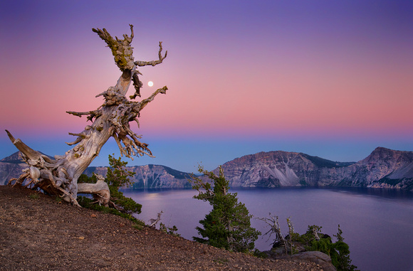 Moonrise at Crater Lake